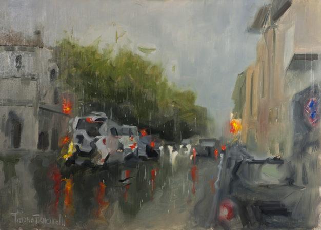 Faenza Corso Mazzini with rain